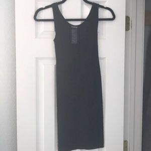 Bebe stretch mini dress with back cutout